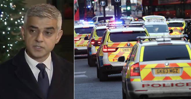 Sadiq Khan made a statement outside New Scotland Yard