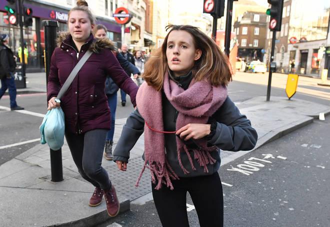 People were seen fleeing the scene