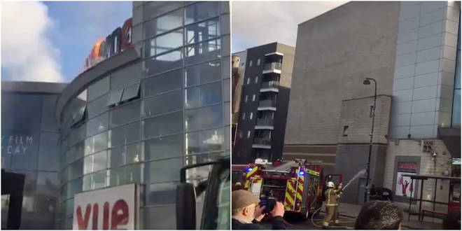 A fire has broken out at a cinema in Wood Green