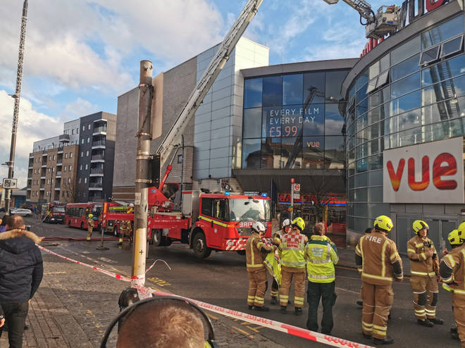 A fire has broken out at a Vue cinema in north London