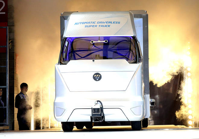 A driverless lorry, which will soon be seen on our roads