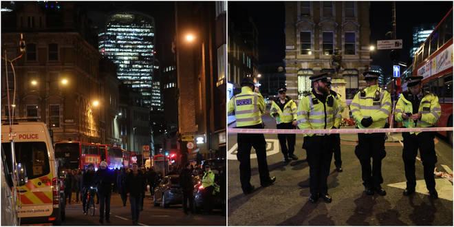 Police at the scene of the London Bridge terror attack