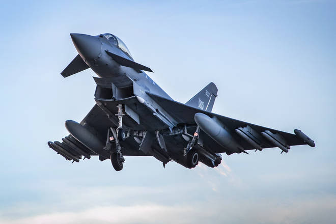 The RAF confirmed the loud noise was caused by an unresponsive aircraft.