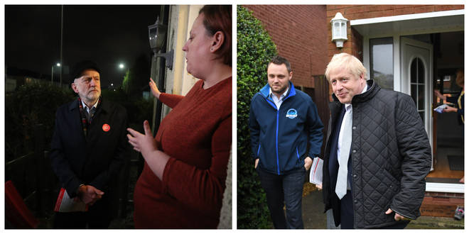 Jeremy Corbyn and Boris Johnson on the campaign trail