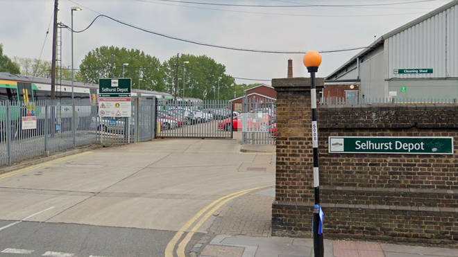 The incident happened at Selhurst Traincare Depot in Croydon