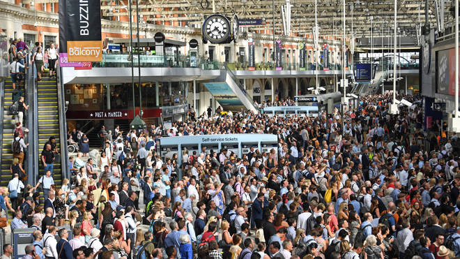 Huge crowds at Waterloo as commuters try to get home