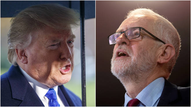The Labour leader has demanded the US President clarify his position on the NHS