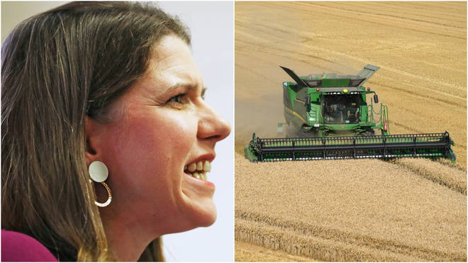 Jo Swinson has called on Boris Johnson to commit to protecting British farmers post-Brexit as concerns heighten over a possible US-UK trade deal