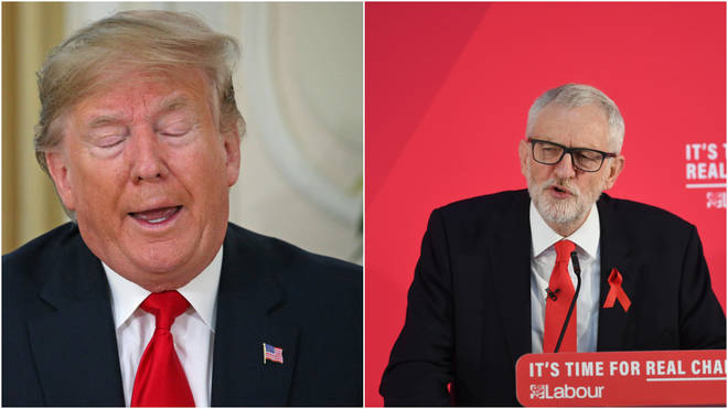The Labour leader will make his feelings clear to Mr Trump if the two meet at a Buckingham Palace event