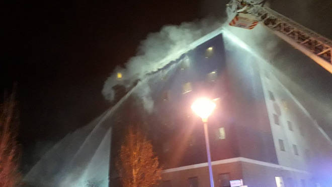 London Fire Brigade say they have around 100 firefighters tackling the blaze