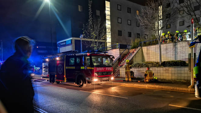 100 firefighters were sent to the blaze