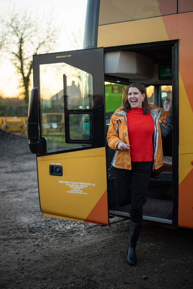 Jo Swinson and her bus
