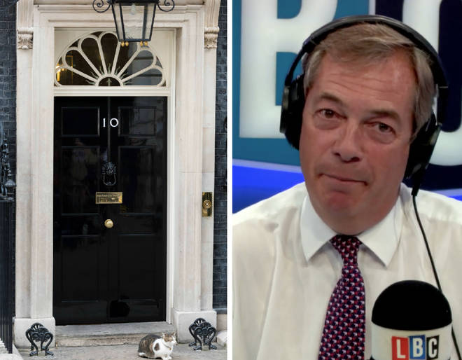 Nigel Farage was critical of the decision to fly the English flag outside Downing Street