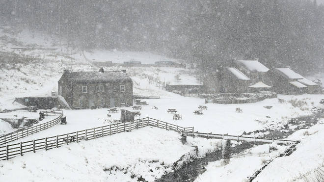 Much of the UK is likely to see snow this December