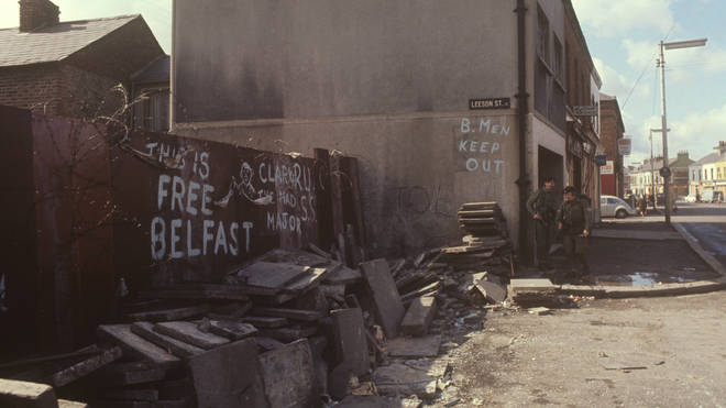 The Falls Road was at the centre of the Troubles in Northern Ireland