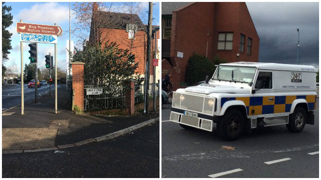 A grenade was thrown at a police land rover in Milltown Row