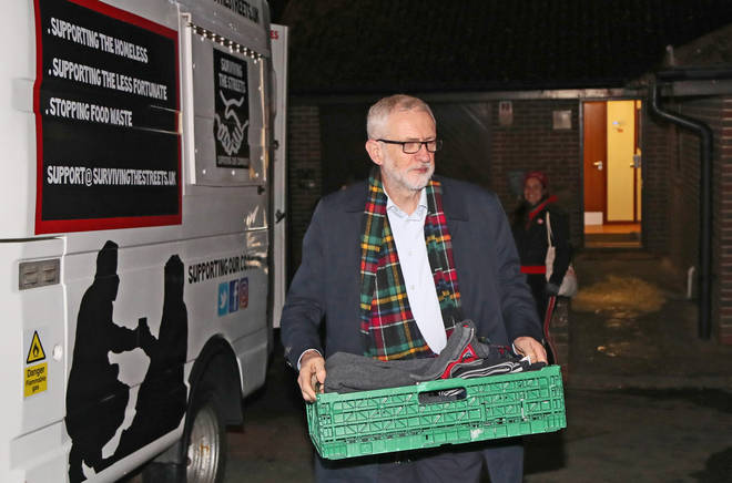 Mr Corbyn wants to end rough sleeping altogether