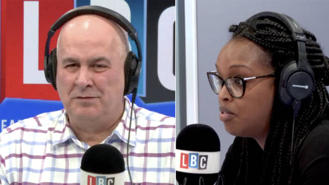 Iain Dale challenged Nimco Ali over her comments