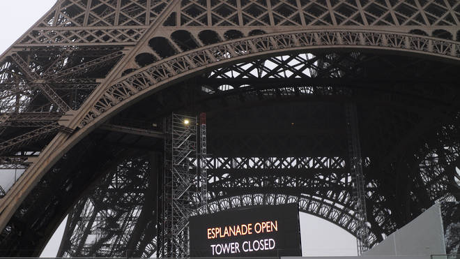 The Eiffel Tower is closed because of the Paris strike