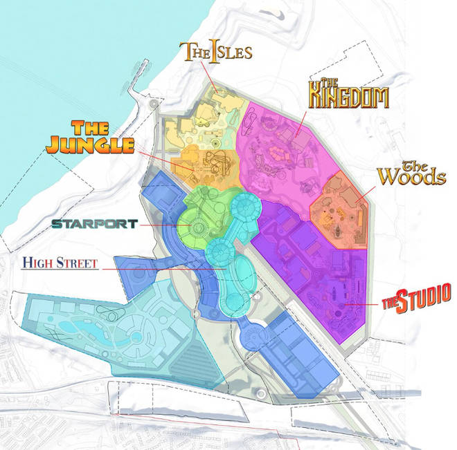 The park will have six distinct zones for people to enjoy