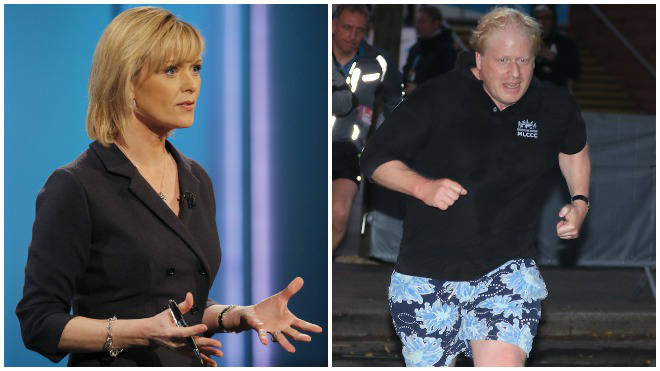 """Mr Johnson has been accused of """"running scared"""" from an ITV interview"""