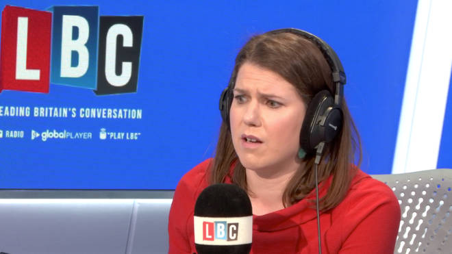 Jo Swinson did not agree with what the caller told her