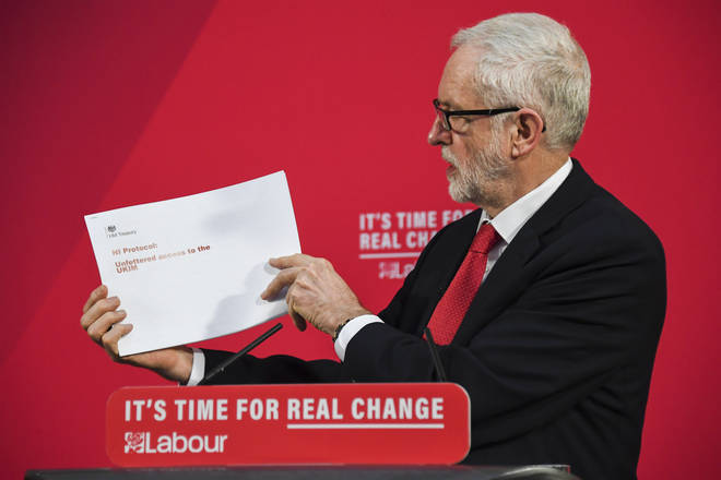 Jeremy Corbyn made the claims at an event on Friday