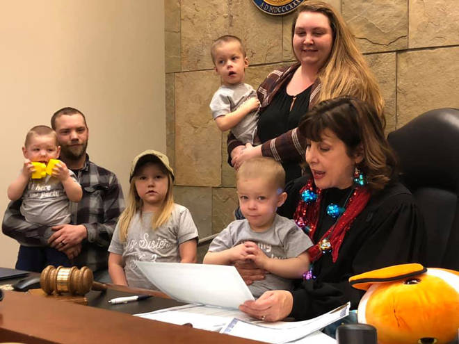 The Kent County Court was holding an Adoption Day