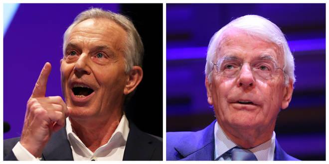 Tony Blair and Sir John Major