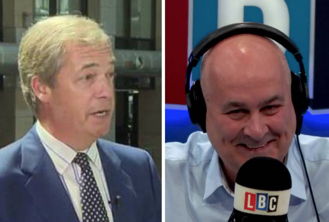 Nigel Farage appeared on Sky News with what looked like blonde hair