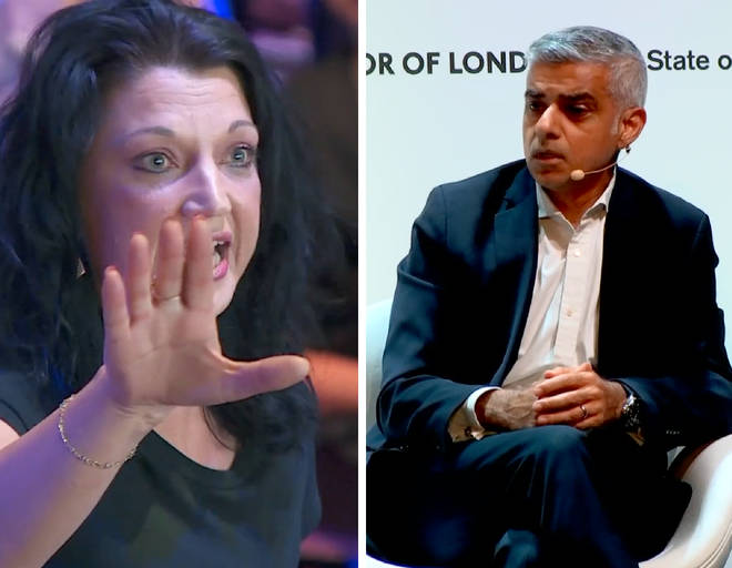 Sadiq Khan was taking questions at the State of London Debate 2018