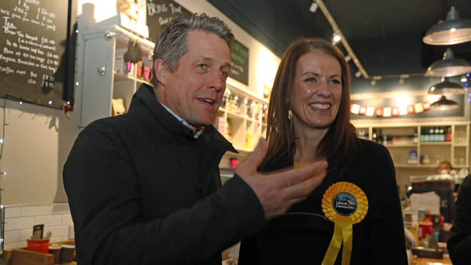 Hugh Grant campaigned with the Liberal Democrats in a bid to help unseat Dominic Raab