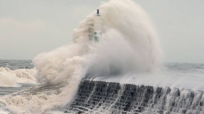 File photo: Storm Atiyah will move across the UK over the weekend