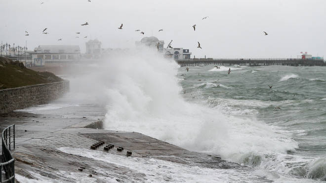 File photo: Strong gales could cause large waves on Monday