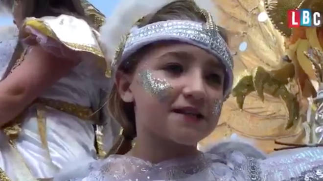 Lola, a 10-year-old local from North Kensington, at Carnival