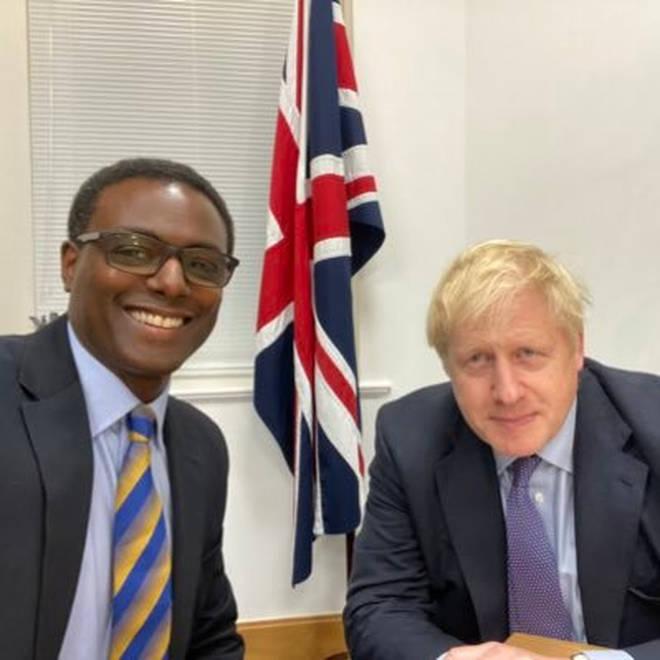 Mr Henry with Prime Minister Boris Johnson