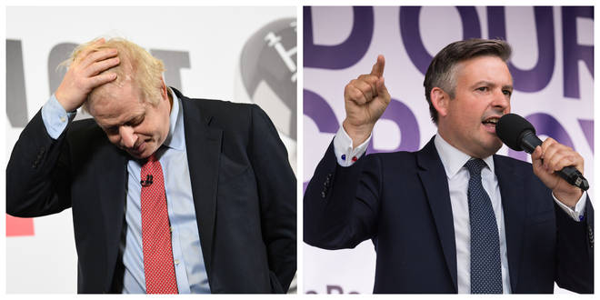 Boris Johnson has been accused of 'misleading' the public by Jonathan Ashworth