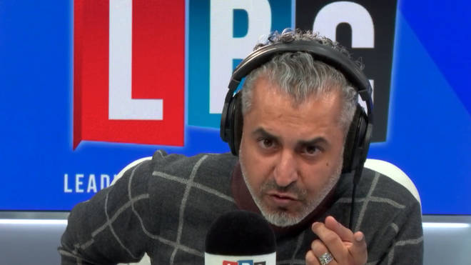 Caller hangs up on Maajid Nawaz after being challenged on anti-Semitism