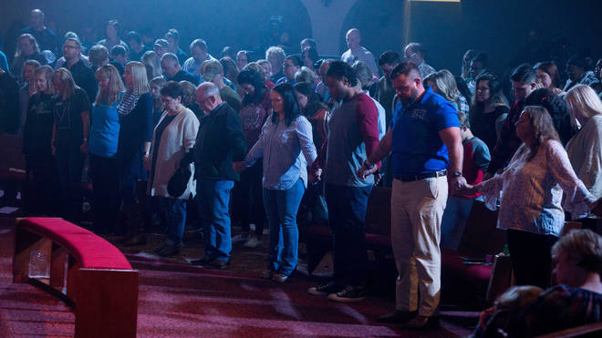 A vigil was held for the victims at a nearby church