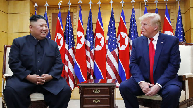 The pair met at a summit in the Demilitarized Zone, South Korea on June 30