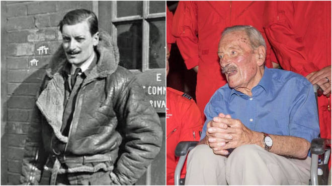 Maurice Mounsdon bailed out of his aircraft but had never used a parachute before