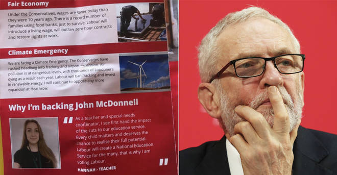 Jeremy Corbyn is not mentioned in most Labour leaflets in London