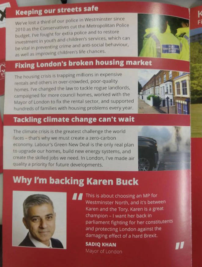 More leaflets mention Sadiq Khan than Jeremy Corbyn