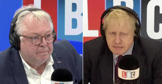 Nick Ferrari interviewing Boris Johnson live on LBC