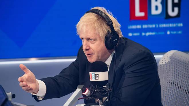 Boris Johnson spoke to LBC's Nick Ferrari