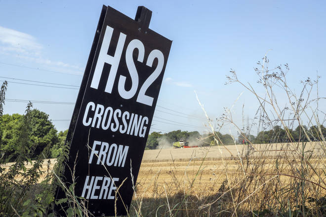 The controversial HS2 rail line