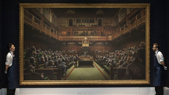 Banksy's work Devolved Parliament sold for £9.9 million