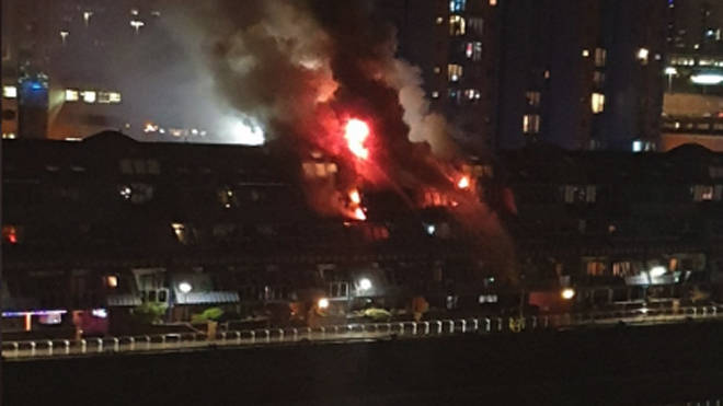 The huge blaze at the flats in Glasgow