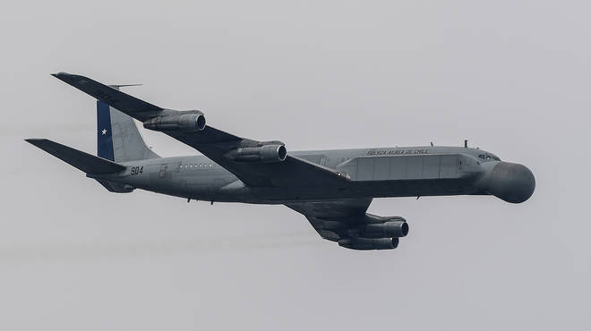 The Chilean military plane disappeared on Monday evening