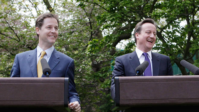 Nick Clegg and David Cameron formed a coalition government in 2010
